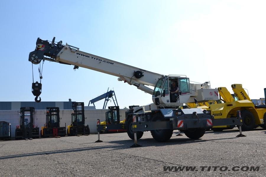 Parts Of A Rough Terrain Crane : Sold terex bendini a rough terrain crane