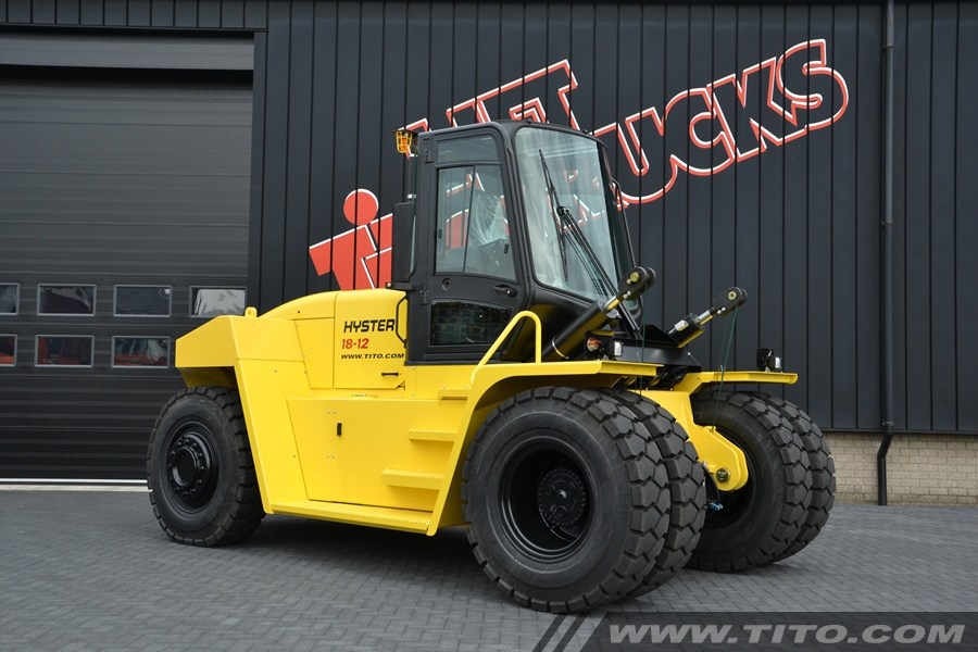 SOLD // 20 ton forklift Hyster H18XM-12 Upgraded