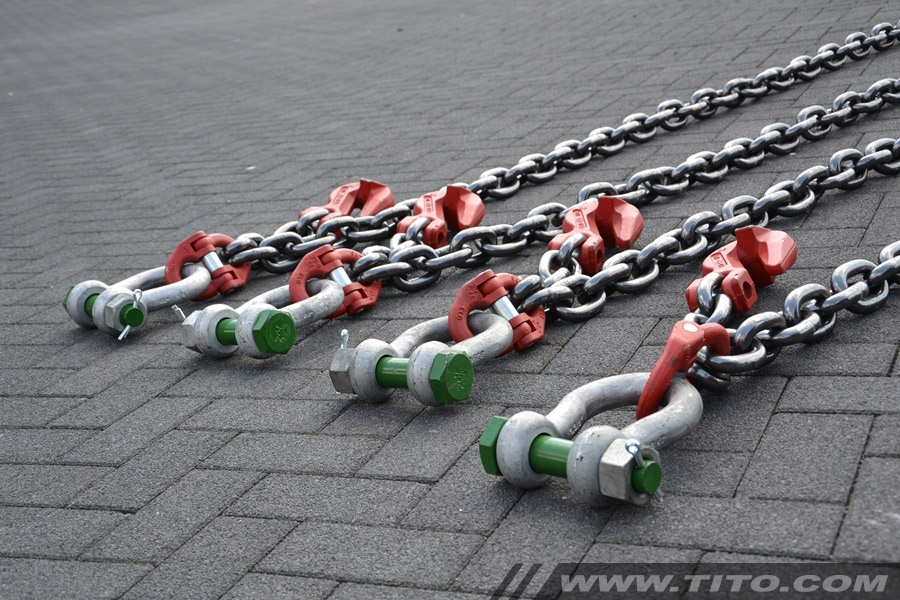 50 ton lifting chains for reach stackers