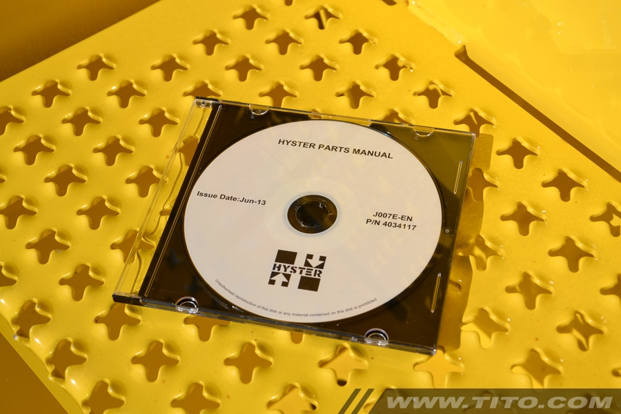 Hyster spare parts catalog J007