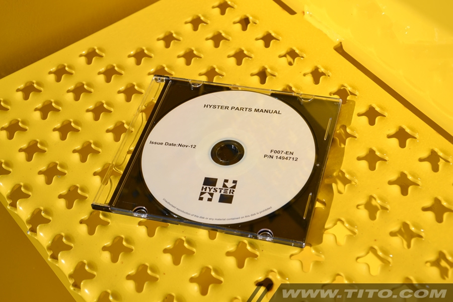 Hyster spare parts manual F007