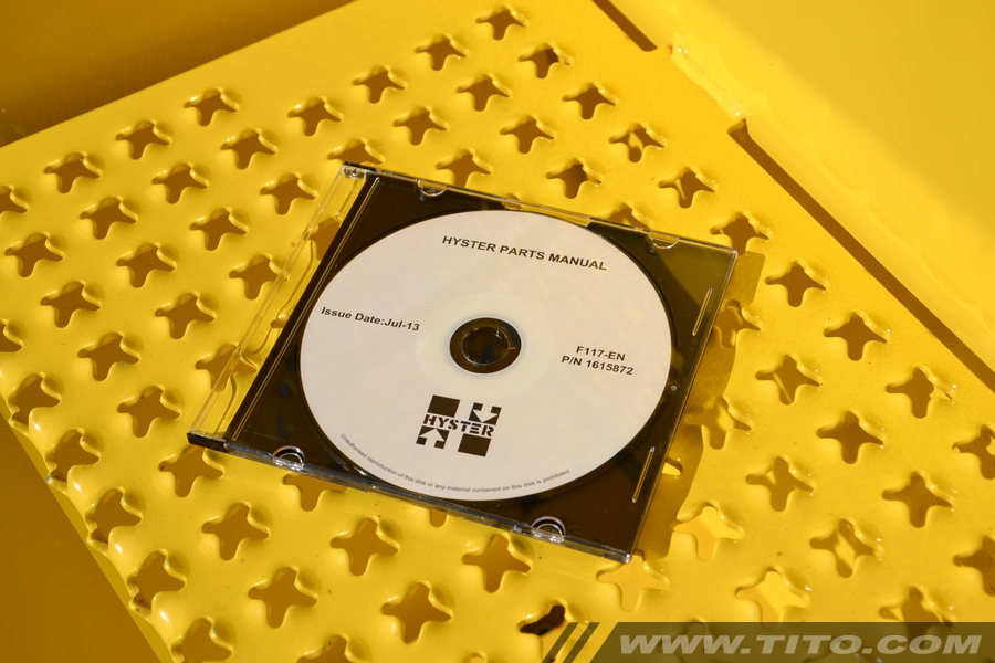 Hyster spare parts manual F117