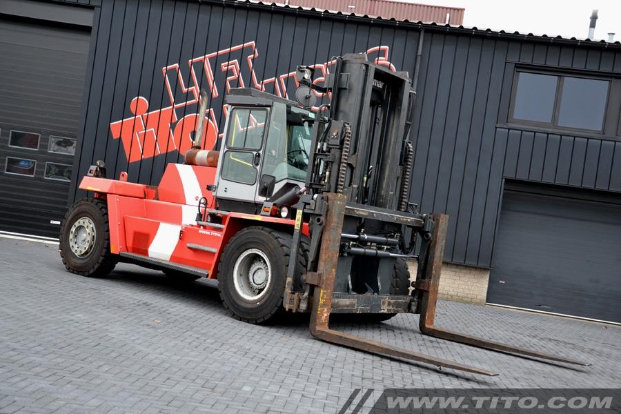 Used 25 ton Kalmar DCD250-12LB forklift for sale