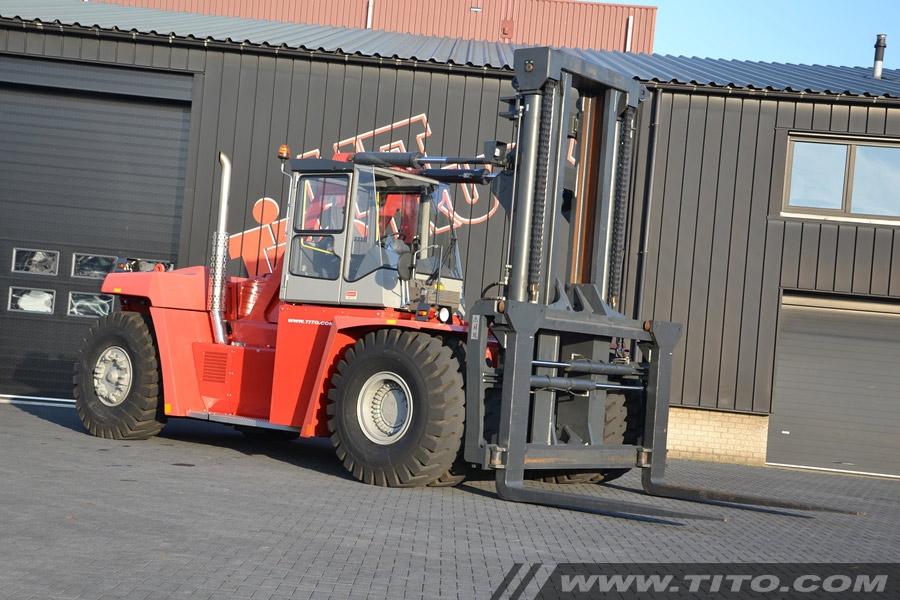 Used 37 ton forklift Kalmar DCF370-12 for sale