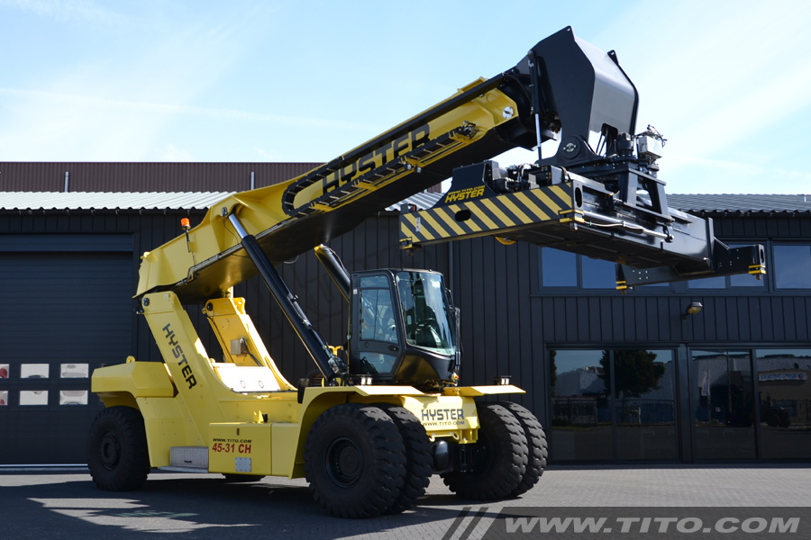 Used 45 ton reach stacker Hyster RS45-31CH 2014